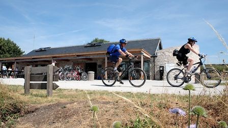 Cycling on the High Peak Trail at Parsley Hay