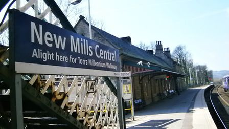 New Mills Central Station today