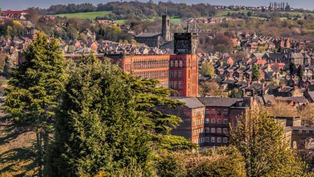 The view of Belper Mill from Bridge Hill House