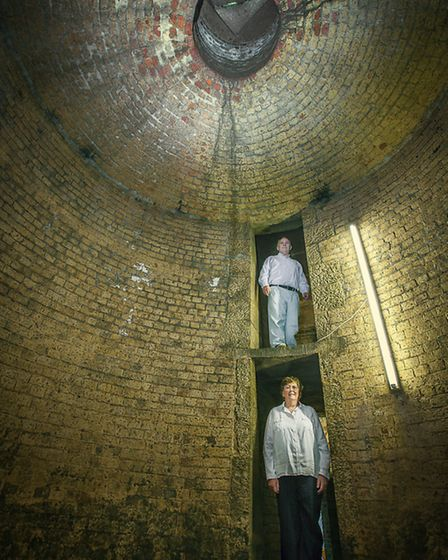 Steve and Caroline in the ice house