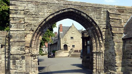 The Priory Arch at the entrance to Repton School