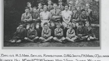 Repton Preparatory whole-school photograph from its inaugural year. Mr BW Thomas (centre of the photo) had taught at...