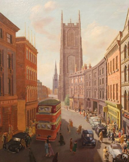 Irongate, Derby, 1949 (image Derby Museums Trust)