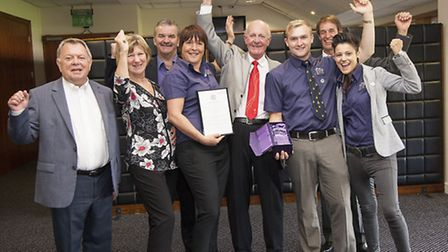 Members of the Skegness Holiday Centre team celebrate