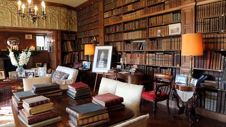 Tissington Hall's impressive Library is Sir Richard's favourite room