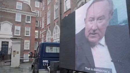 Led By Donkeys have taken Andrew Neil's message directly to Conservative Party headquarters. Picture