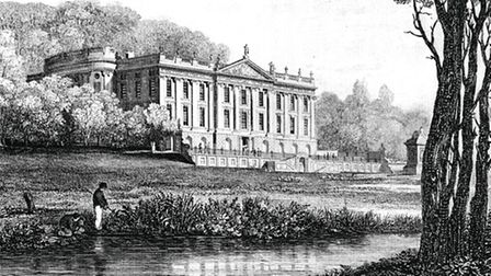 The west front at Chatsworth drawn by Sir Francis Chantrey c.1818