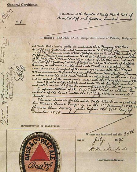 An 1890s renewal contract of the Red Triangle trade mark shows the historic first registration date 1st January 1876