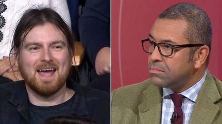 A member of the Question Time audience slammed Tory chair James Cleverly over his party's 'disregard