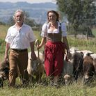 Joe and Marion at home in Bavaria with their flock