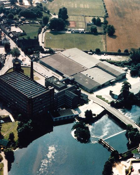 An aerial view of the West Mill