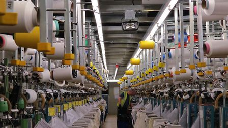 Knitting machines in the West Mill complex at Belper