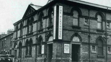 Curtain up - Derby Playhouse on 1st October 1952 ready for opening night