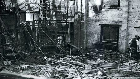 STAGE FRIGHT - Derby Playhouse stage completely wrecked by fire