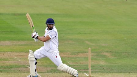 Billy Godleman hits out during day one of the tour match between Derbyshire and India in 2014 (Photo by Clint Hughes/Getty Im...