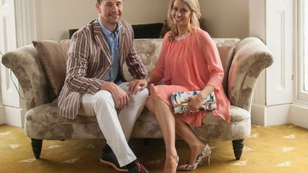 Elizabeth wears Vera Mont dress, £185, and matching Vera Mont cover up £75, with Cappi floral leather heels, £89.95, and...