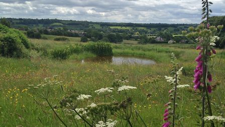 A view across the fields at Mayfield