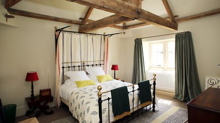 The master bedroom is one of three, in the luxury accommodating which sleeps six