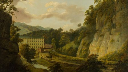 Arkwrights Mills, by Joseph Wright, c.1795-6, oil on canvas Photo: R Tailby/ Derby Museums