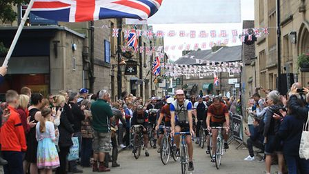 Start of the ride, Water Street, Bakewell