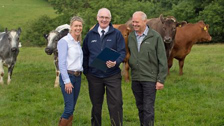 Paul Cook with clients Sian Fergusson and Mick Allen Photo Neil Brinsdon Photography