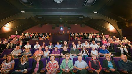 A capacity Ritz audience awaits another film treat