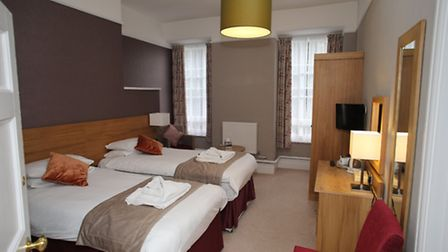 One of many contemporary styled bedrooms in the hotel which can accommodate up to 90 guests