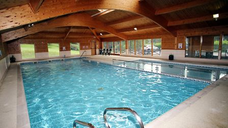 The 15 metre indoor swimming pool is an added attraction