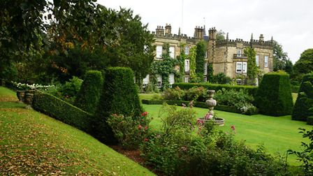 Renishaw Hall's south facade viewed from the Lime Walk
