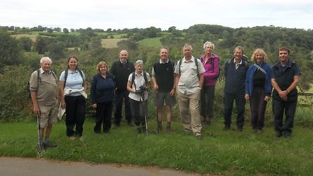 Derbyshire Ramblers, Gordon is on the left
