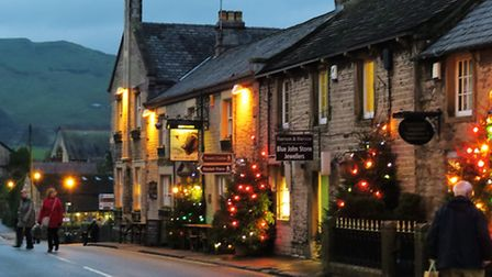Castleton decorated for Christmas