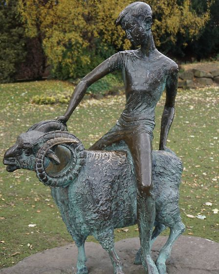 Boy and Ram in its current site by the Derwent