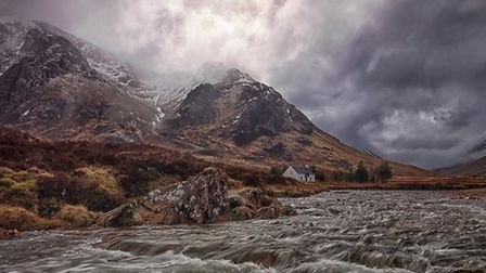 Storm Clouds over Lagangarbh Bothy by David Thompson - part of Bolsover Camera Club's Derwent Trophy-winning panel