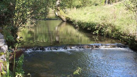 One of the small, step weirs on the river