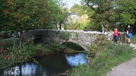 The famous Viators Bridge at Milldale  a packhorse bridge mentioned in The Compleat Angler