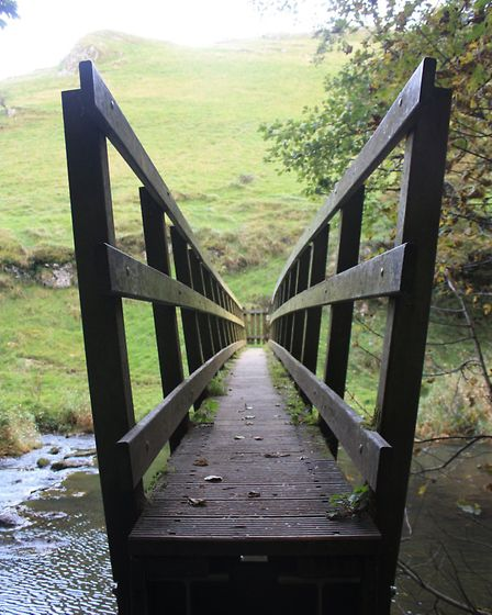 Some of the footbridges are a tight squeeze!