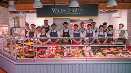 Robert Jones, Retail Managing Director (Centre) and The Team of Walter Smith provide a warm welcome to the Farm Shop at...