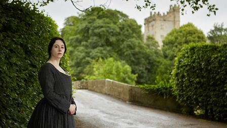 Jane Eyre on the ancient stone bridge approaching Haddon Hall Photo: Janette Sykes