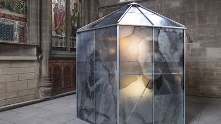 Photographs of a negative greenhouse, made to re-create the story that during the Second World War Winters gave many of...