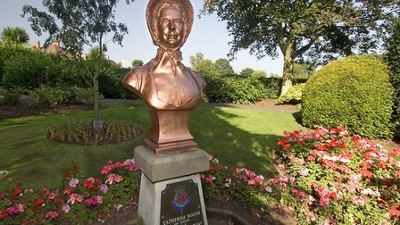 Ashbourne's 'Golden Lady' Catherine Booth in the town's War Memorial Gardens Photo: Ashley Franklin