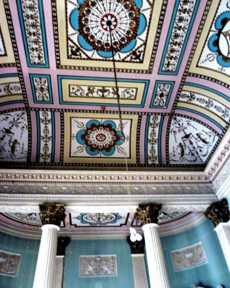 The ceiling of the former Assembly Room in the Crescent