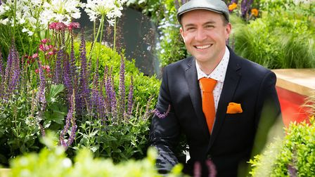 Lee Bestall at Chelsea Flower Show Photo Mickey Lee