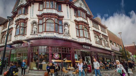 Costa Coffee, St Peters Quarter, now occupying the Boots store which opened in 1912