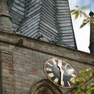 The clock on the Church of St Mary and All Saints, Chesterfield