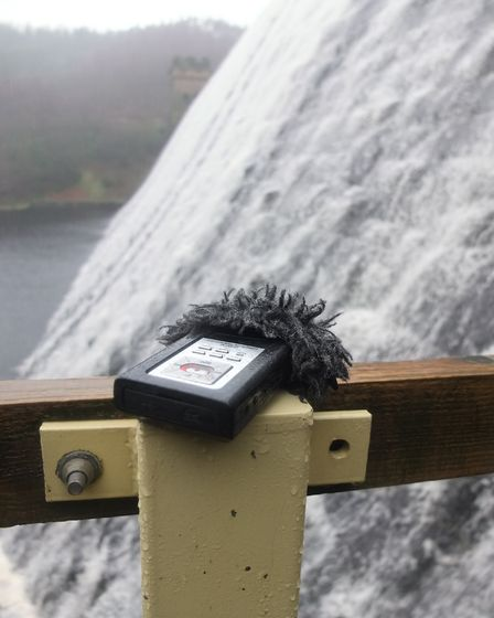 Recording the sound of water at Derwent Dams