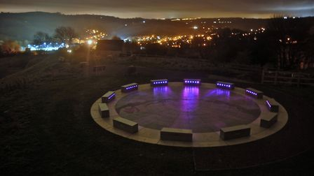 Wirksworth's magical StarDisc at night Photo: Tony Fisher