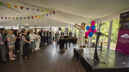 Lesley Garret singing to the audience at the launch of the 40th Anniversary Appeal
