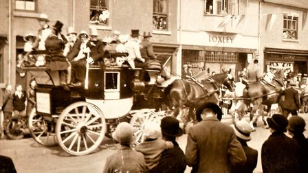 The 'Tantivy' in Hinckley, possibly for the Silver Jubilee celebrations of 1936 Photo: George Dozdz