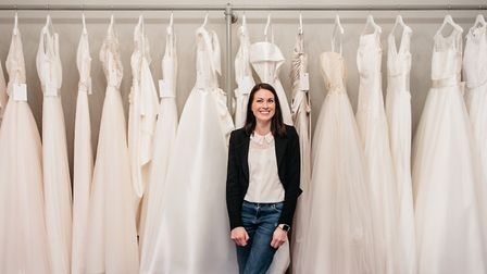 Phoebe in her bridal boutique Photo: Chris Seddon Photography
