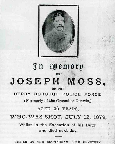 The funeral card of Constable Moss